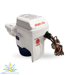12v Compact Fully Submersible Automatic Sensor Bilge Pump - 1,100GPH/4,140LPH