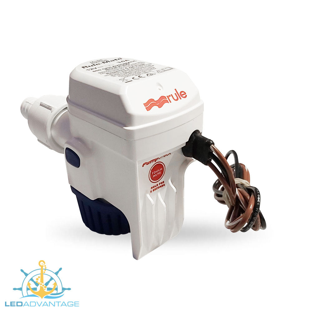 12v Compact Fully Submersible Automatic Sensor Bilge Pump - 500GPH/1,860LPH
