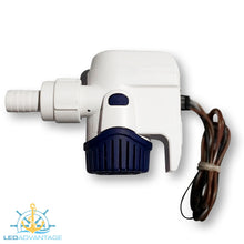 Load image into Gallery viewer, 12v Compact Fully Submersible Automatic Sensor Bilge Pump - 800GPH/3,000LPH