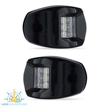Load image into Gallery viewer, 12v Black Marine Compact Style Port & Starboard LED Navigation Lights