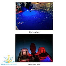 Load image into Gallery viewer, 12v 6 Watt Retro-Fit Boat Drain LED Bung Light (Blue or White LED)
