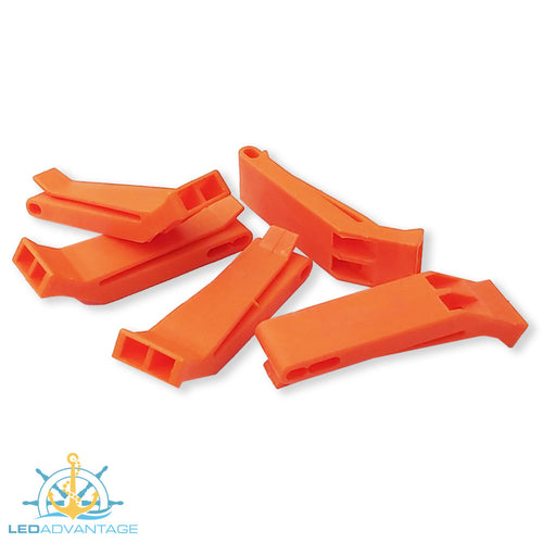Orange Pealess Whistle (Available 1 unit or 5 Pack)
