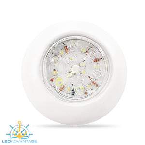 "12v 4""/4.4"" 1.15w White 16-LED Push On/Off Cabin Light (Available in Surface or Flush Mount)"