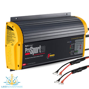12v/24v Pro Sport Series 20 On-Board Marine Battery Charger System (20A Dual Bank)
