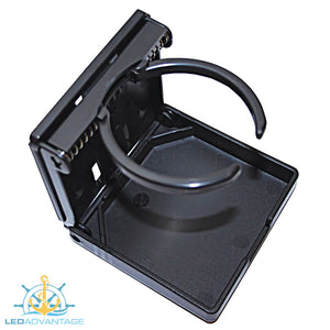 Black Adjustable 65mm-80mm Folding Drink Holder
