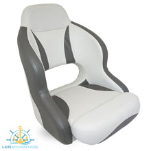 Load image into Gallery viewer, Compact Bucket Style Helmsman's Seat - Charcoal/Light Grey