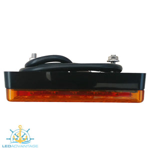 "12v 100mm (4"") x 100mm (4"") Submersible Waterproof Combination Trailer Lights (Twin Pack)"
