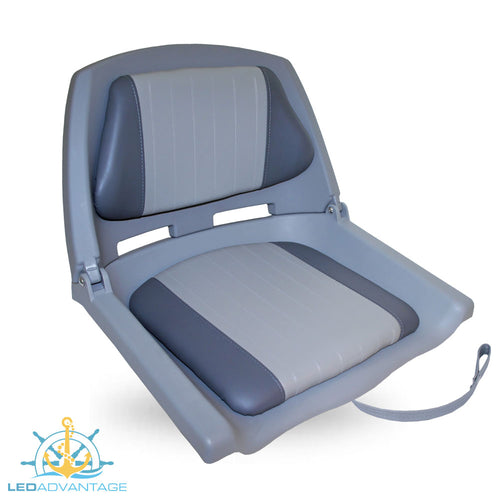 Basic Padded Folding Seat (Grey Seat Shell - Charcoal/Grey pad)