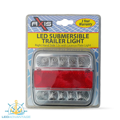 12v Submersible Waterproof Combination (Stop/Tail/Indicator/Licence Plate) Trailer Light - Right Only