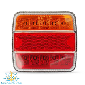 12v Submersible Waterproof Combination (Stop/Tail/Indicator/Licence Plate) Trailer Lights (Twin Pack)