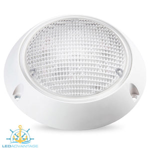 "12v~24v 5-3/4"" (147mm) 13w LED Surface Mount Waterproof Exterior Dome Light"