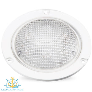 "12v~24v 5-3/4"" (147mm) 13w LED Flush/Recessed Mount Waterproof Exterior Dome Light"