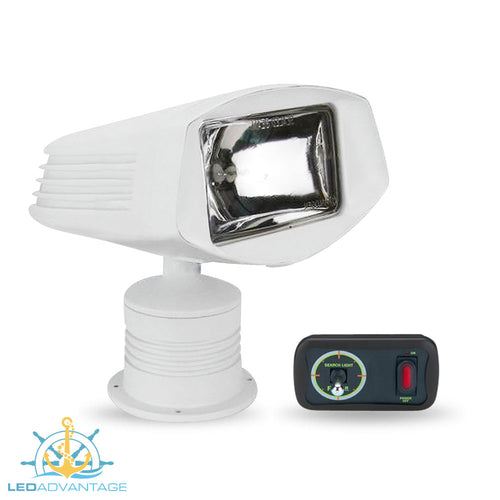 12v Deluxe 50w Marine Remote Controlled Single Sealed Beam Spot Light