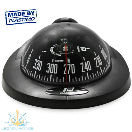 Offshore 95 Power Boat Vibration Absorber System Backlit Compass (Black)