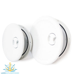 "Round Access/Inspection & Hinged Lid Ports - White (Available in 8"" & 10"")"