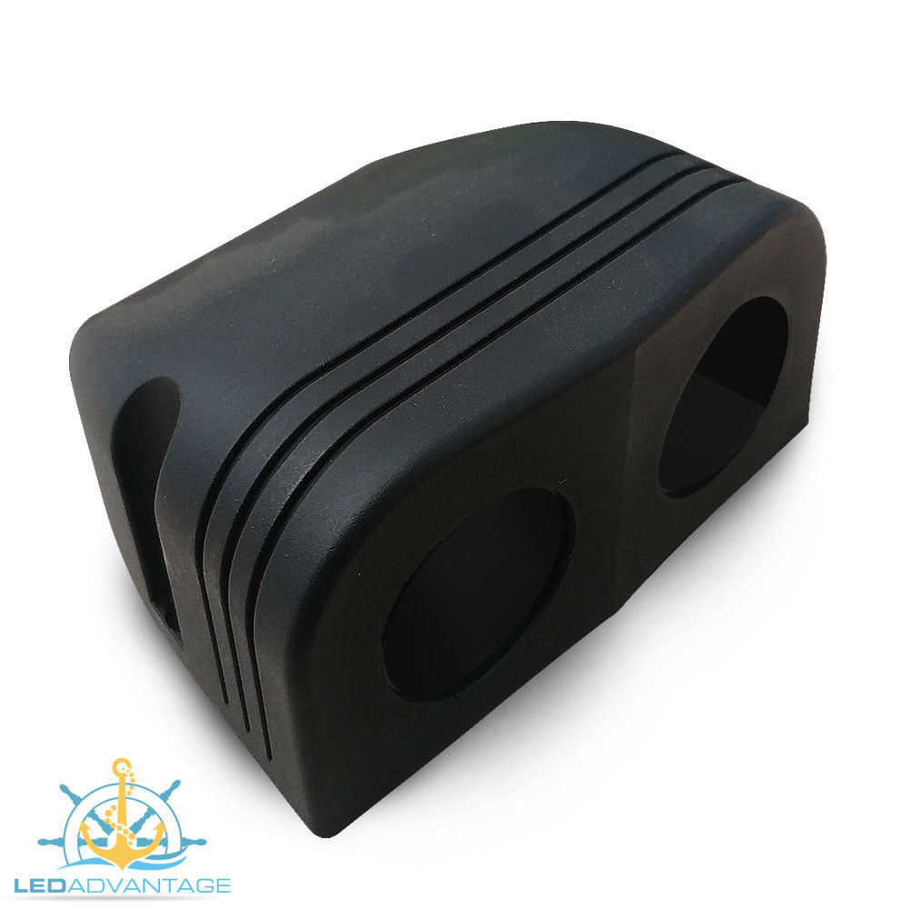 Black Double Tent Surface Mount Housing