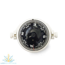 Load image into Gallery viewer, Boat Compact Compass 55mm Pivoting (White Housing)
