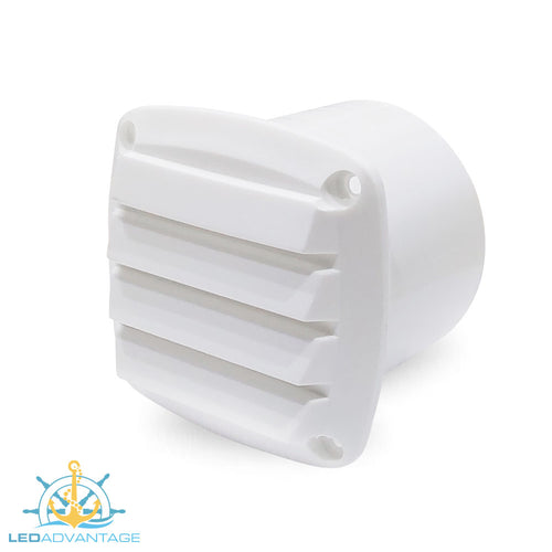 White Louvre ABS Plastic Blower Vent (Suit 75mm Hose)