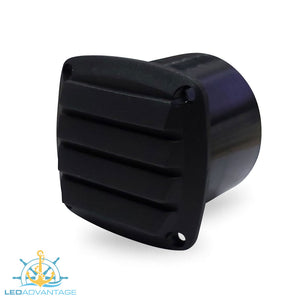 "Black Louvre ABS Plastic Blower Vent (Suit 3"" or 75mm Hose)"