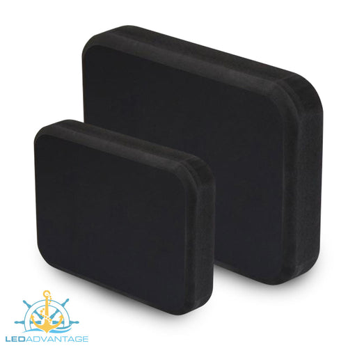 Black Standard/Jumbo Stern Pads (Adhesive Mounting Pads, No Holes/Drilling)