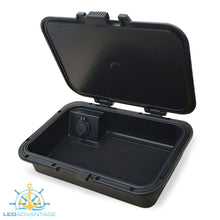 Load image into Gallery viewer, Glove/Helm Box with Dual USB Charger - Black Housing with Seadek Pad