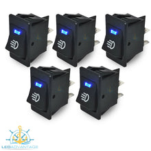 Load image into Gallery viewer, 12v On/Off Interior Blue LED Illuminated Switch (5 Pack)