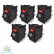Load image into Gallery viewer, 12v On/Off Interior Red LED Illuminated Switch (5 Pack)