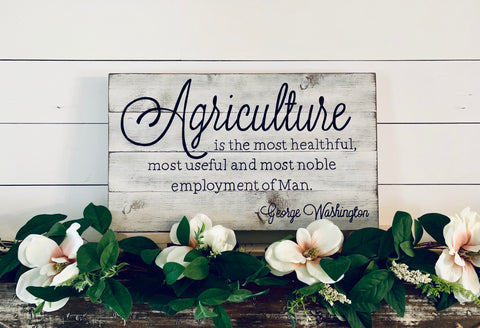 Agriculture Sign