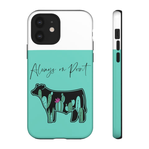 Teal Cactus Steer Phone Case