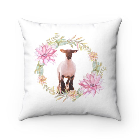 Sheep Floral Pillow