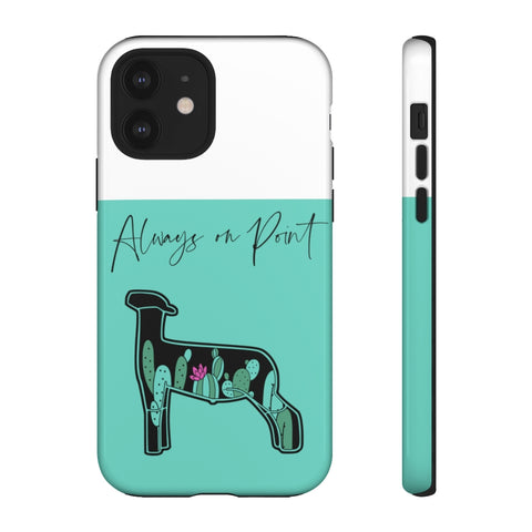 Teal Cactus Sheep Phone Case