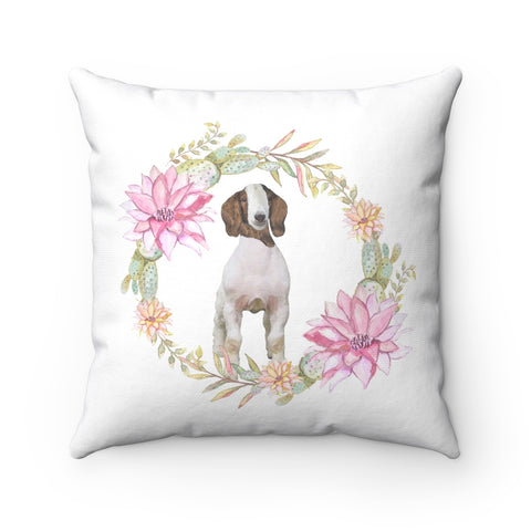 Goat Floral Pillow