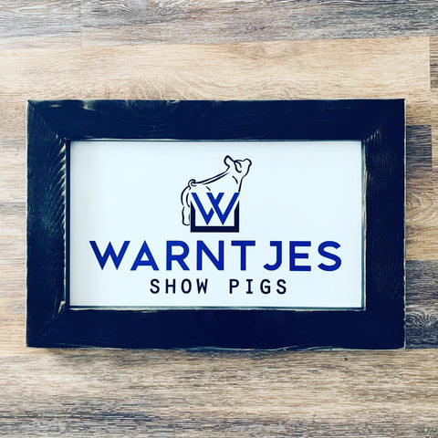 Framed Logo Sign