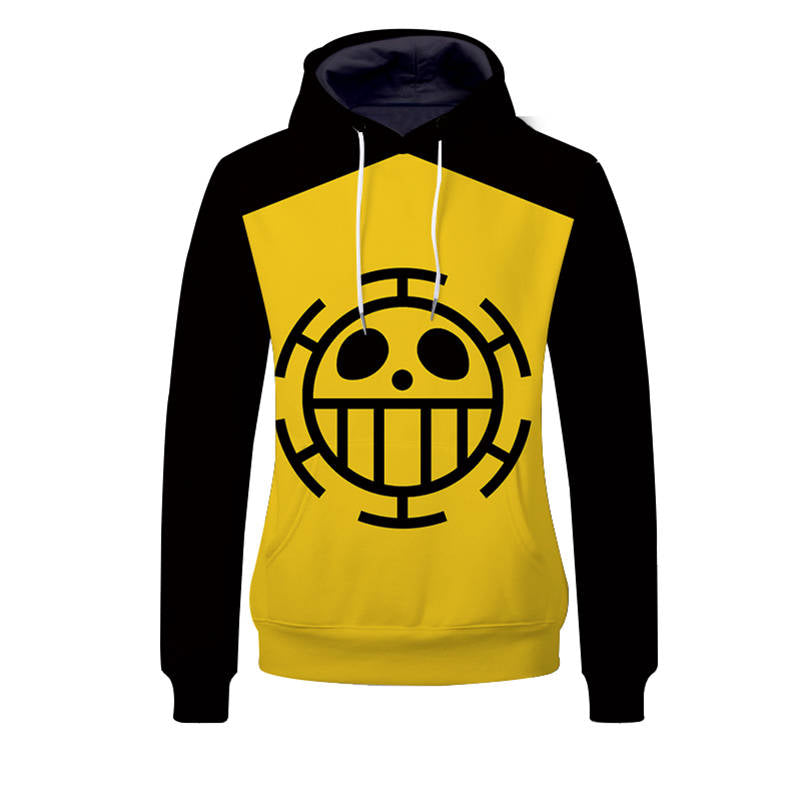 One Piece Hoodies - Trafalgar Law Team Unisex Pullover Hooded Sweatshirt