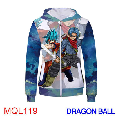 Anime Sweatshirt - Dragon Ball Unisex Zip Up Hoodie