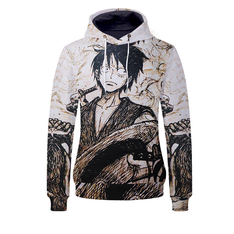 One Piece Hoodies - Monkey D Luffy Unisex Pullover Hooded Sweatshirt