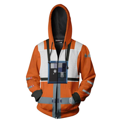 Star Wars Hoodies - X-wing Pilot Suit Zip Up Hoodie