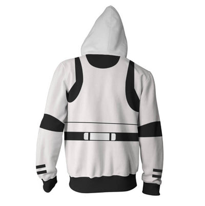 Star Wars Hoodies - Stormtrooper Cosplay Zip Up Hoodie