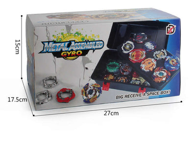 12 In 1 Bayblades Burst Evolution Metal Fusion with 2 Launchers Gyro Battling Game Starter Pack Set 12 Spinning Top + 2 Launcher