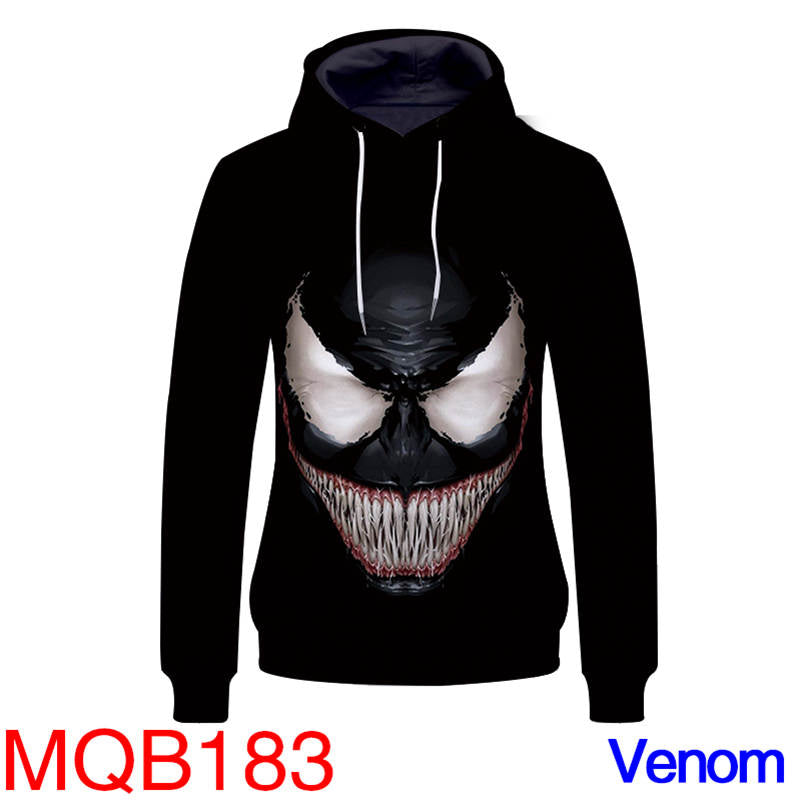 Anti Superhero Hoodies - Venom Unisex Pullover Hooded Sweatshirt