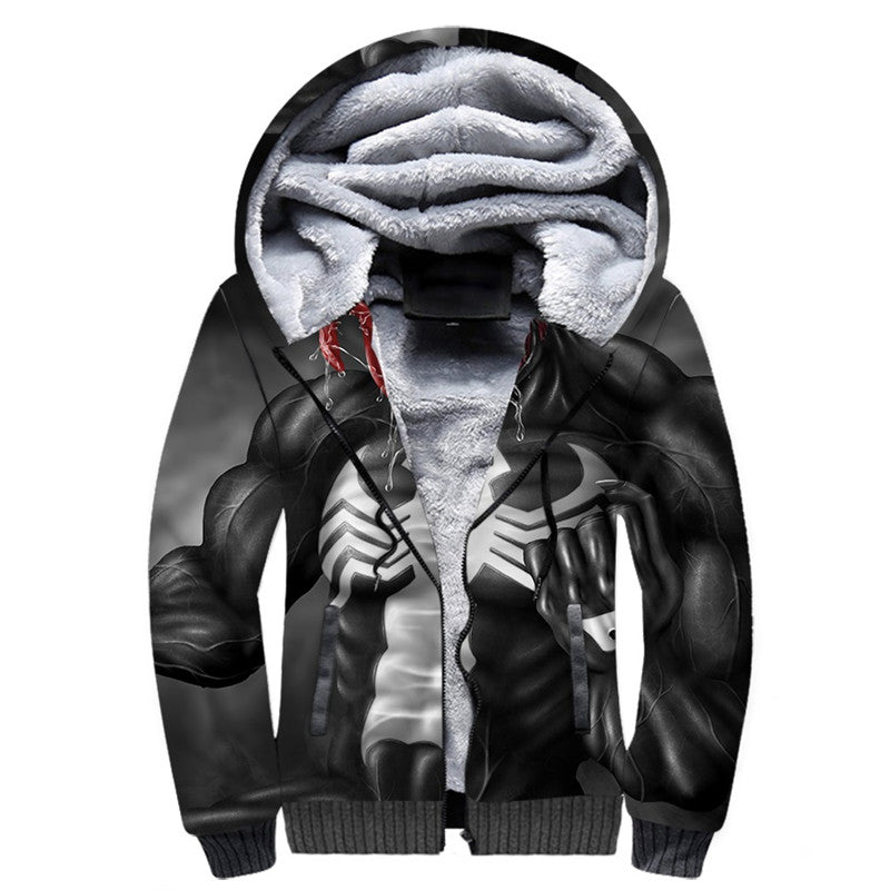 Venom Spider Unisex Fleece Winter Jacket