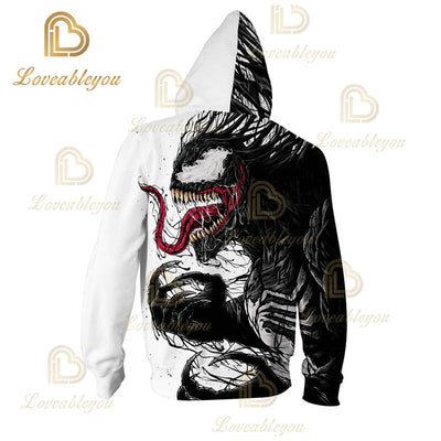 Superhero Venom -  Children and Adult Unisex Zip Up Hoodie