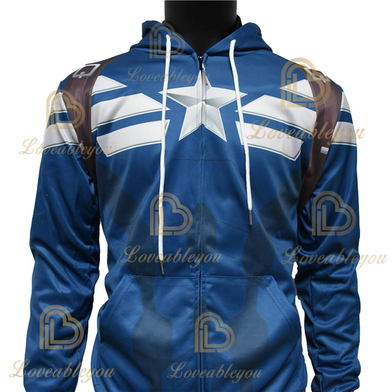 Limited Edition - Captain America Unisex Zipper Hoodie