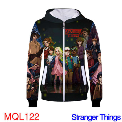 Anime Sweatshirt - STRANGER THINGS Unisex Zip Up Hoodie