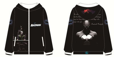 Movie Sweatshirt - Batman Unisex Zip Up Hoodie