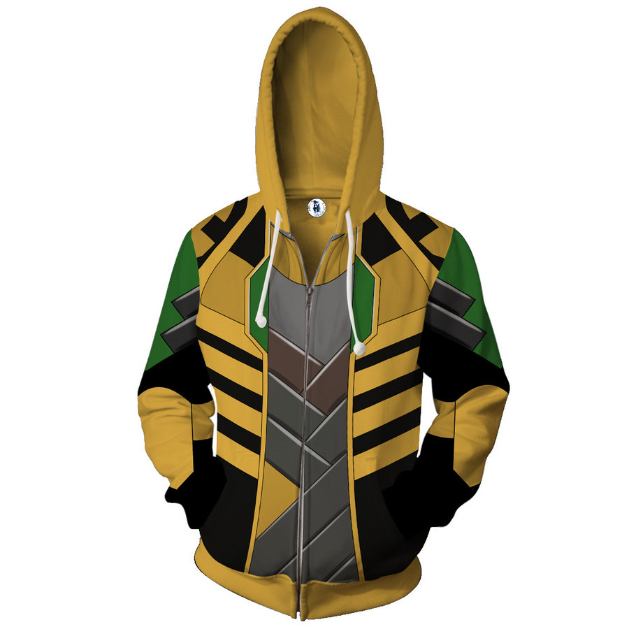 Loki Sweatshirt -  Loki Black Cosplay Zip Up Hoodie