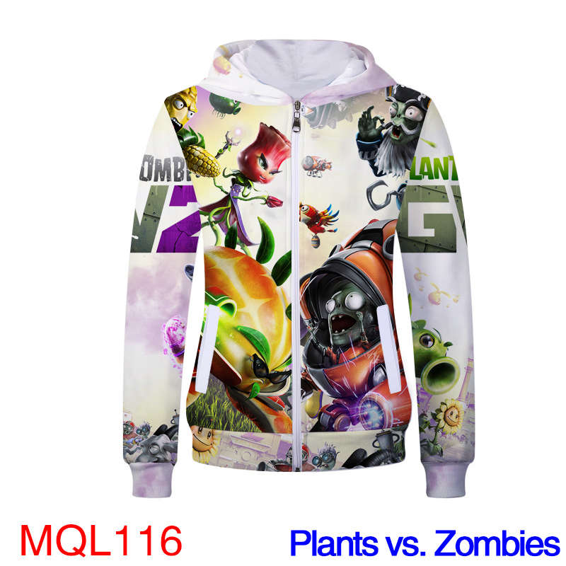 Anime Sweatshirt - Plants vs. Zombies Unisex Pullover Zip Up Hoodie