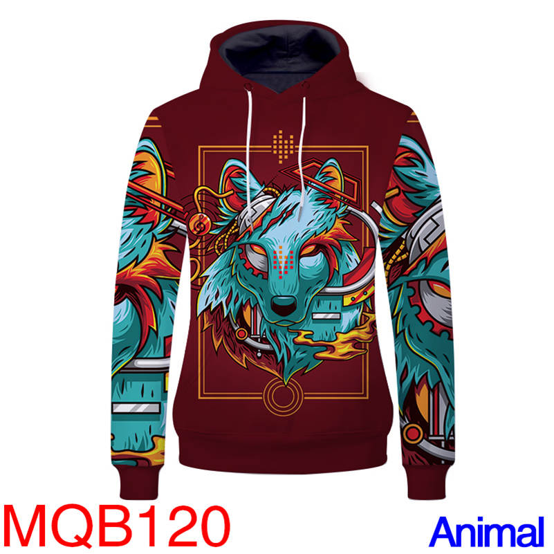 Animal Hoodies - Spirit Wolf Unisex Pullover Hooded Sweatshirt