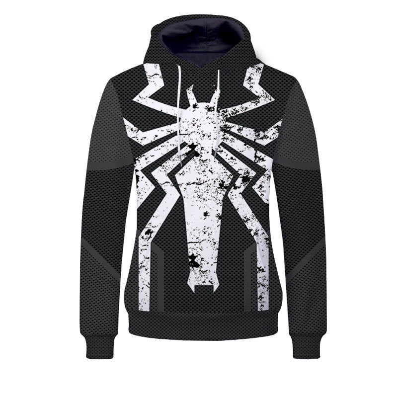 Superhero Hoodies - Venom Spidy Unisex Pullover Hooded Sweatshirt