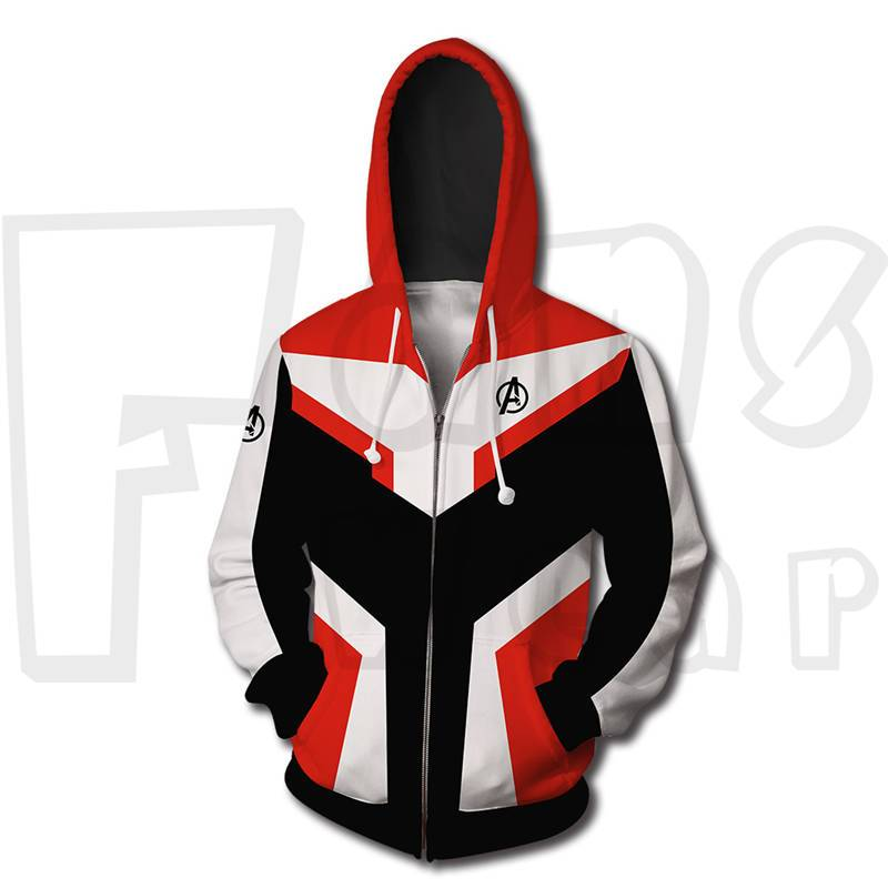 Endgame Battle Suit Sweatshirt - Captain Zip Up Hoodies